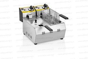 friggitrice elettrica doppia vasca 3+3 lt