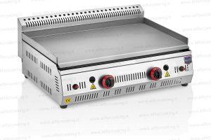 fry top a gas acciaio