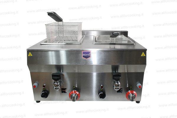 friggitrice gas doppia vasca